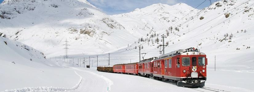 Bernina-Express in der Schweiz